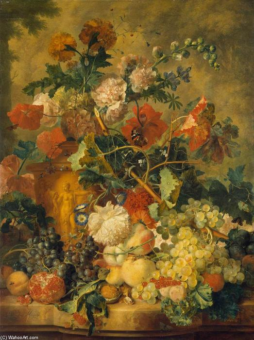 famous painting fiori e frutta of Jan Van Huysum