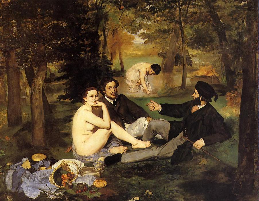 famous painting Colazione sull erba of Edouard Manet