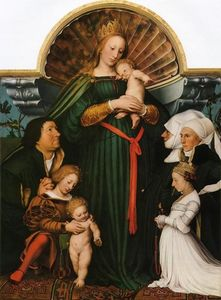 Hans Holbein The Younger - Meyer Madonna (conosciuta anche come Madonna Darmstadt)