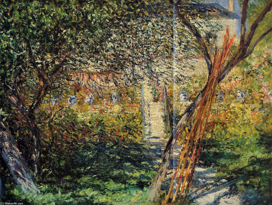 famous painting Giardino di Monet a Vétheuil of Claude Monet