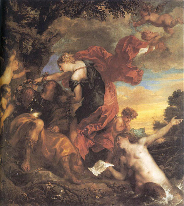 famous painting rinaldo e armida of Anthony Van Dyck
