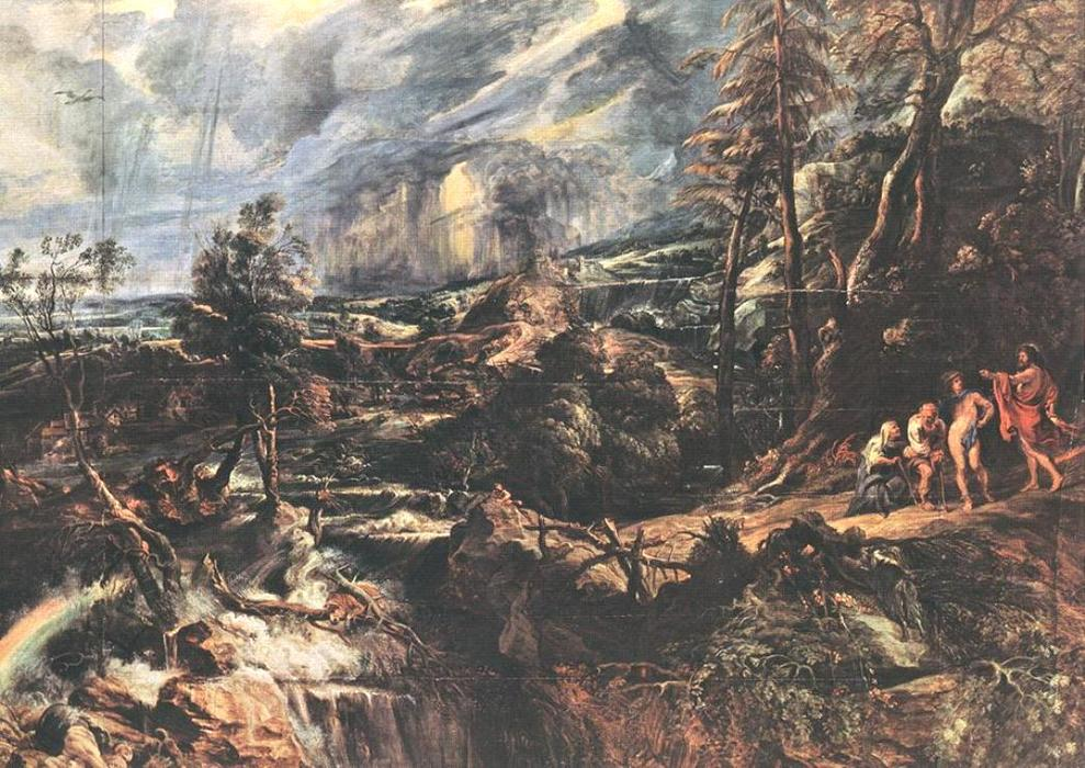 famous painting paesaggio tempestoso of Peter Paul Rubens