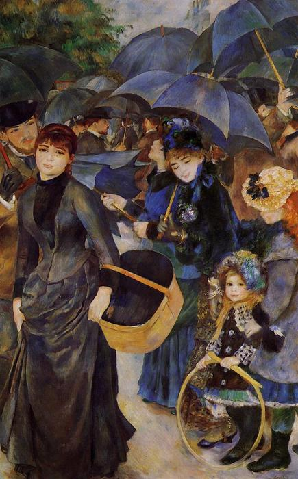 famous painting ombrelli of Pierre-Auguste Renoir