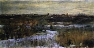 Dwight William Tryon - Inverno CENTRALE  parco