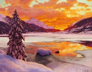 Ivan Fedorovich Choultse - Inverno in Engadines