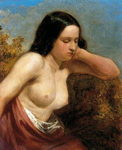 William Etty - testa e `shoulders` di un donna
