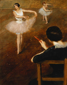 Albert Ernest Carrier Belleuse - La lezione Ballet