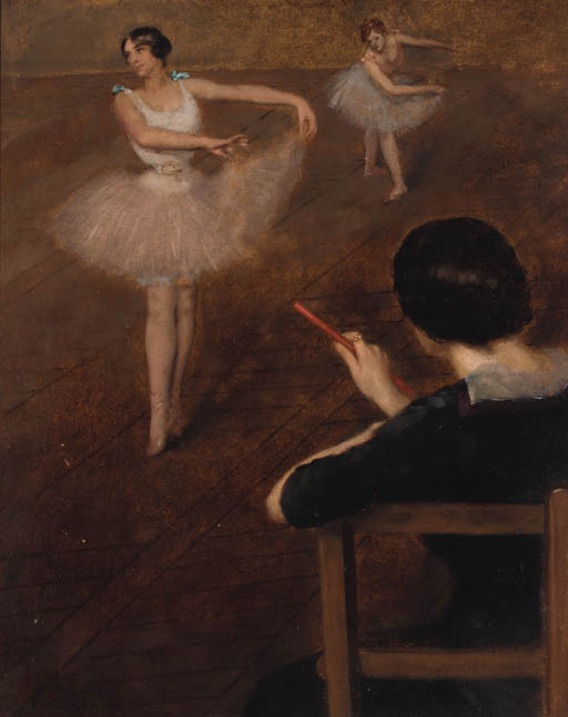 famous painting il balletto classe  of Albert Ernest Carrier Belleuse