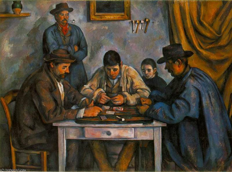 famous painting I giocatori di carte of Paul Cezanne