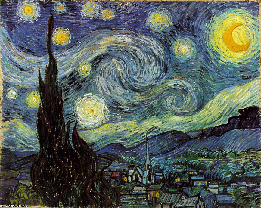 famous painting il stellata Notte , Moma NEW YORK of Vincent Van Gogh