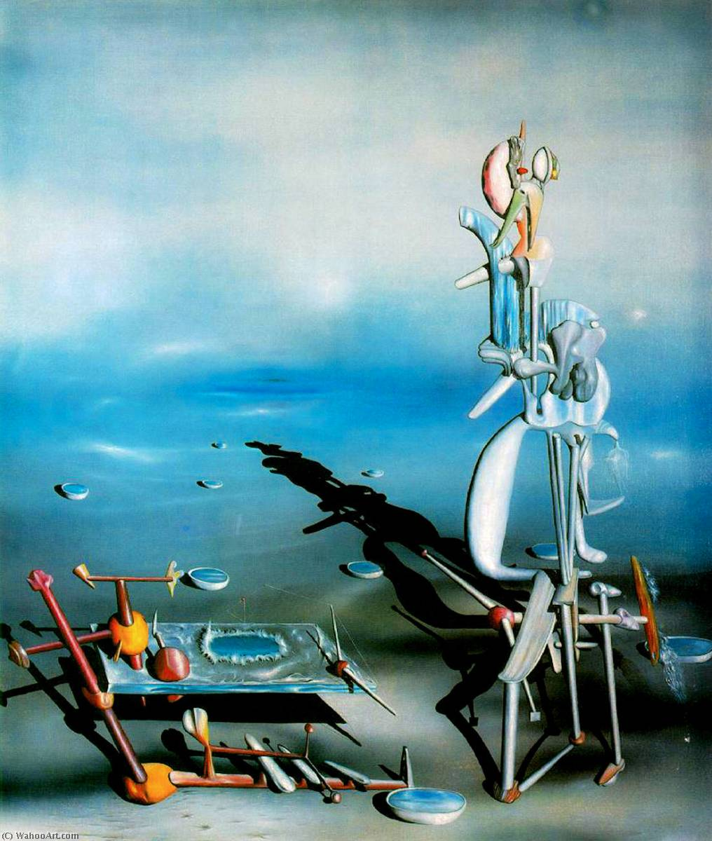 famous painting inconditionné divisibilità  of Yves Tanguy