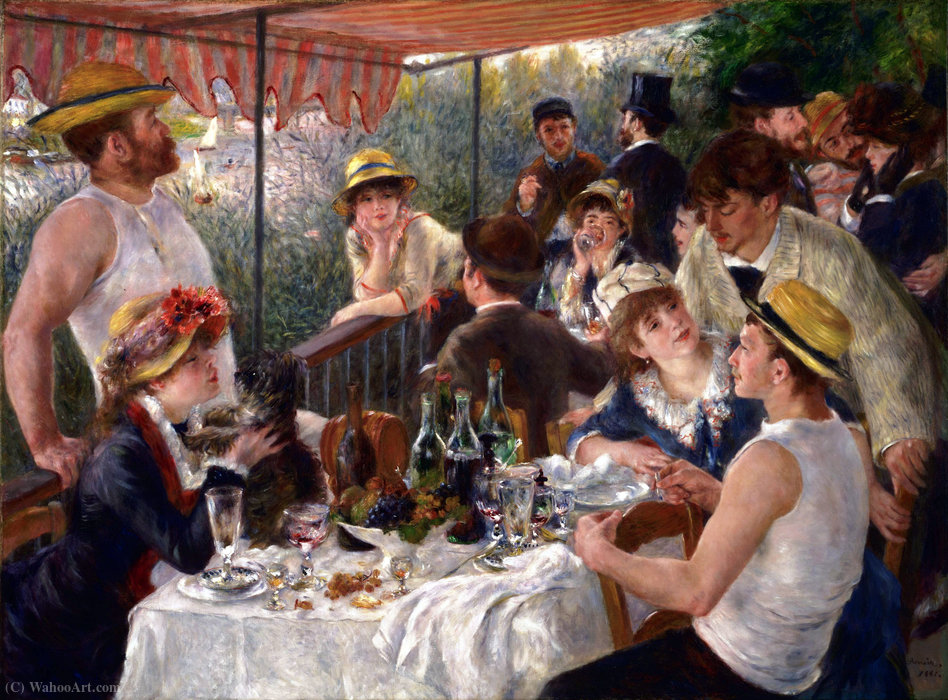 famous painting Pranzo di  Antartico  in barca  partito  of Pierre-Auguste Renoir