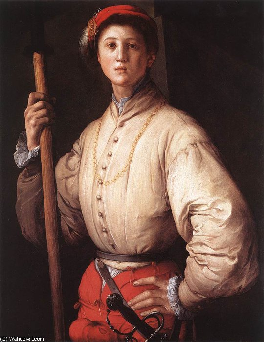 famous painting Alabardiere of Jacopo Carucci (Pontormo)