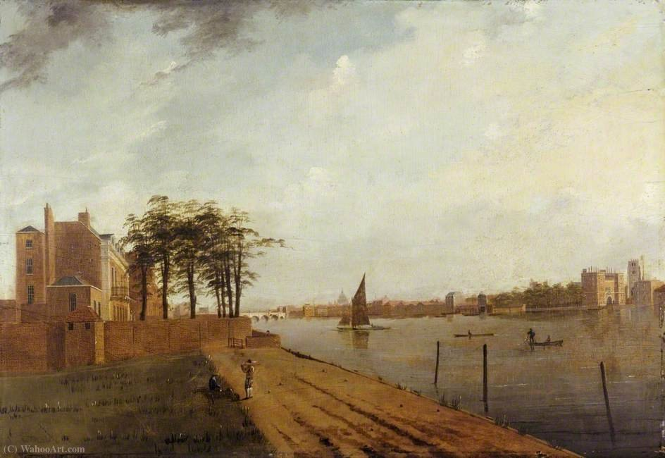 famous painting Lambeth Palace da Millbank, Londra of Samuel Scott
