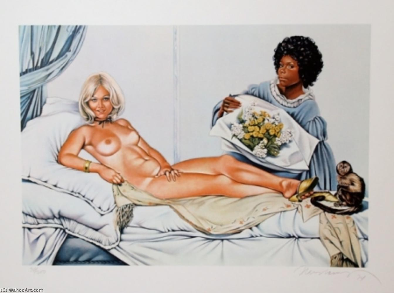 famous painting Manet's olimpia of Mel Ramos