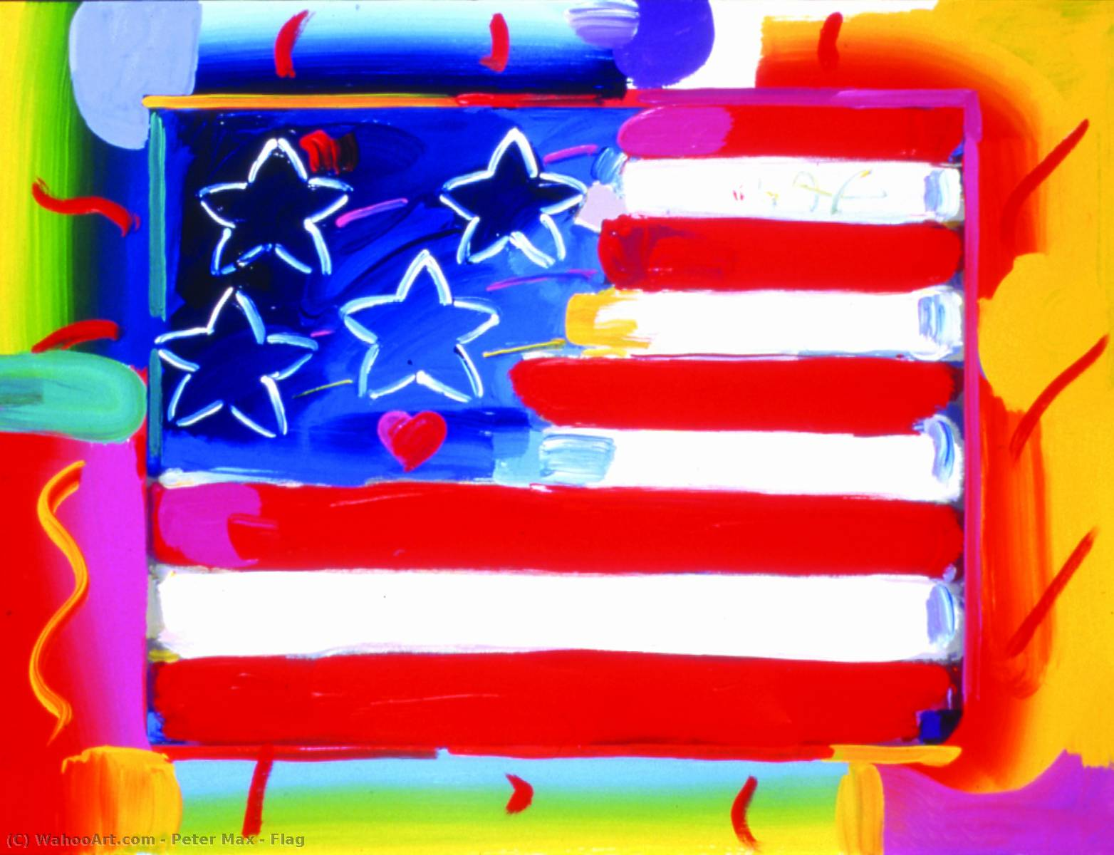famous painting bandiera of Peter Max