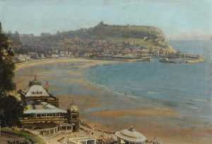 Frederick William Elwell - Scarborough dal Terme , nord yorkshire